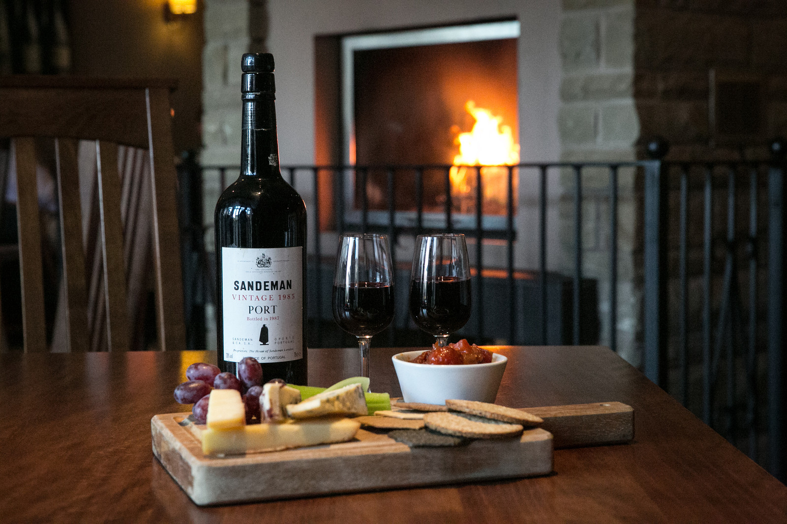 Enjoy Sandeman's Port pared with local Lancashire Cheeses