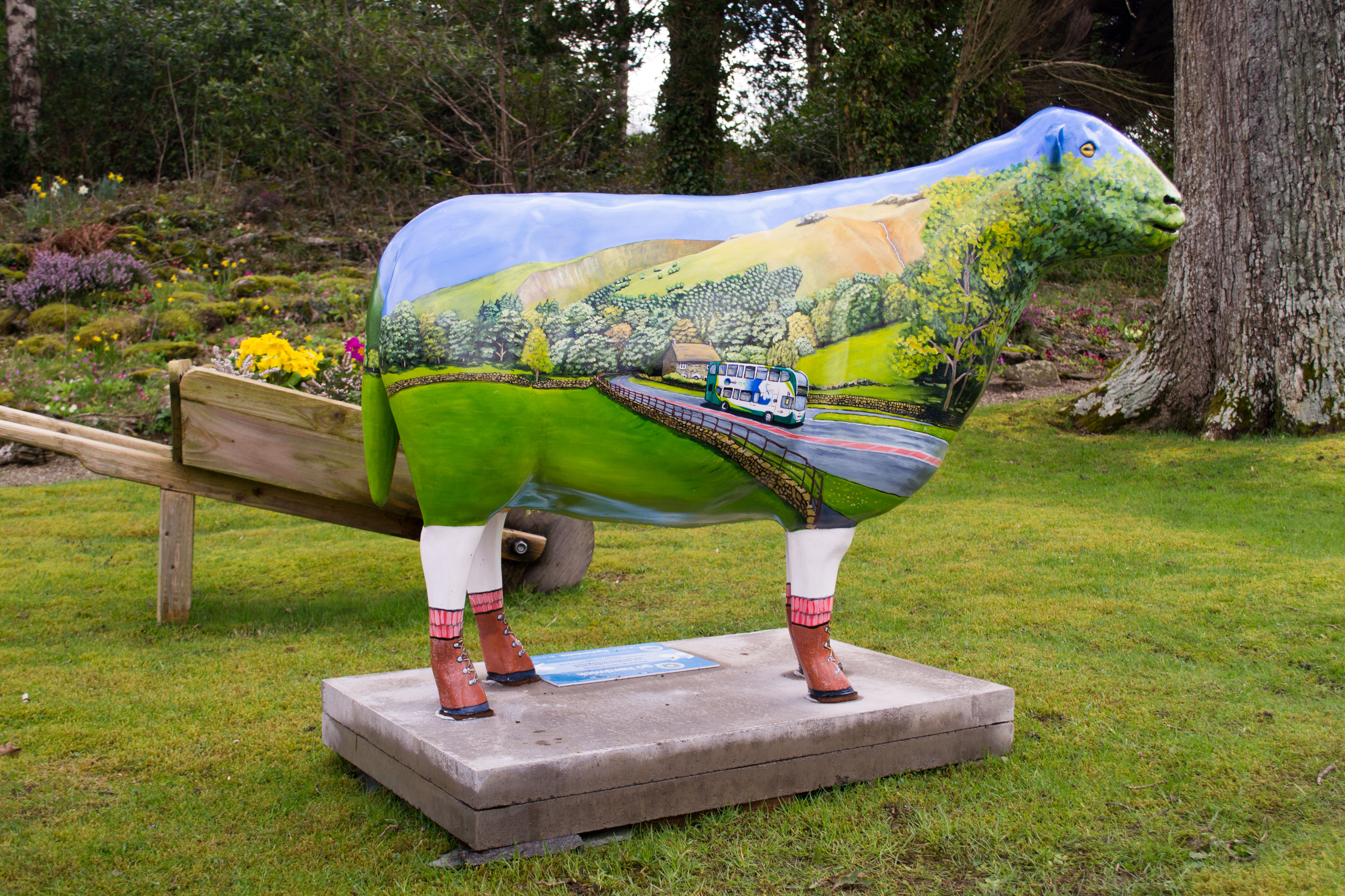 Wanda sits proudly at the front of Low Wood Bay. Designed by Marty Strutt and sponsored by Stagecoach