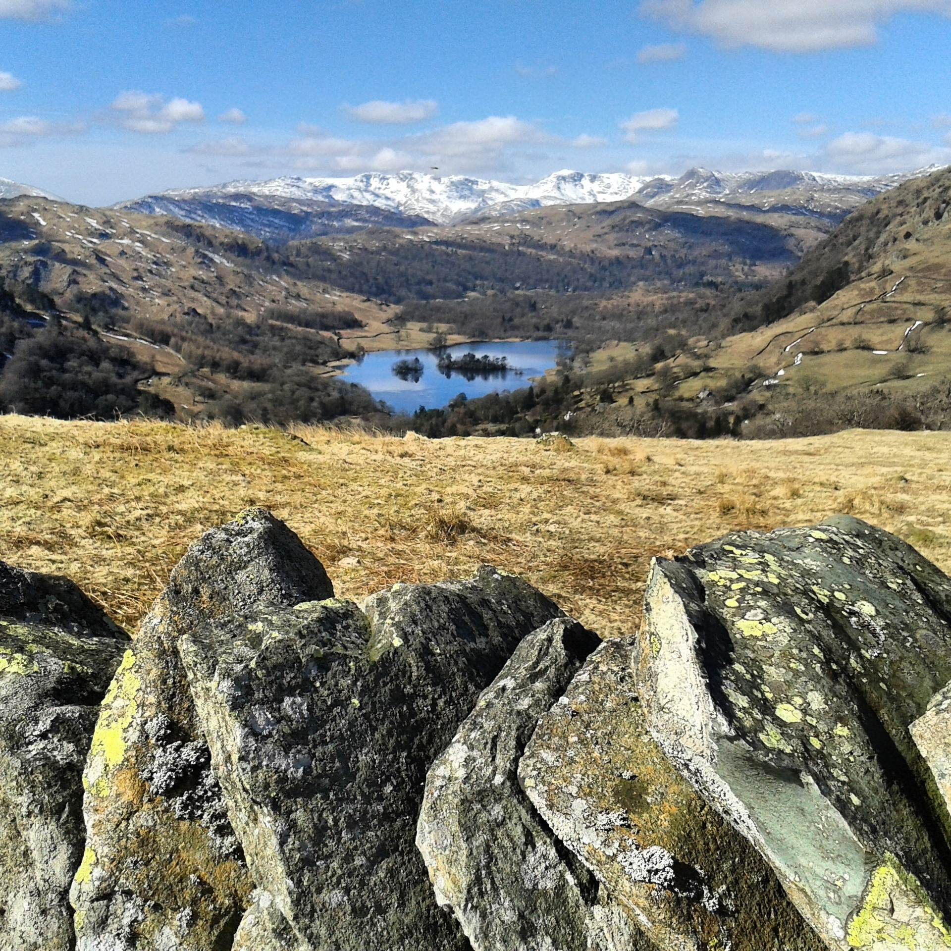 View of Rydal Water on the way to High Sweden Bridge