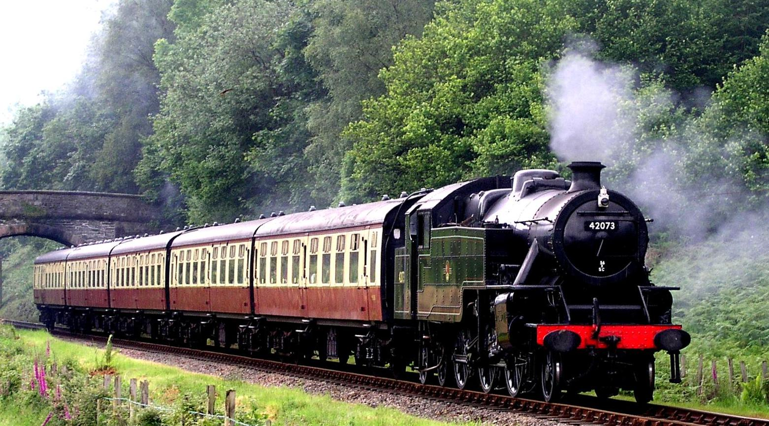 Haverthwaite Railway steam train
